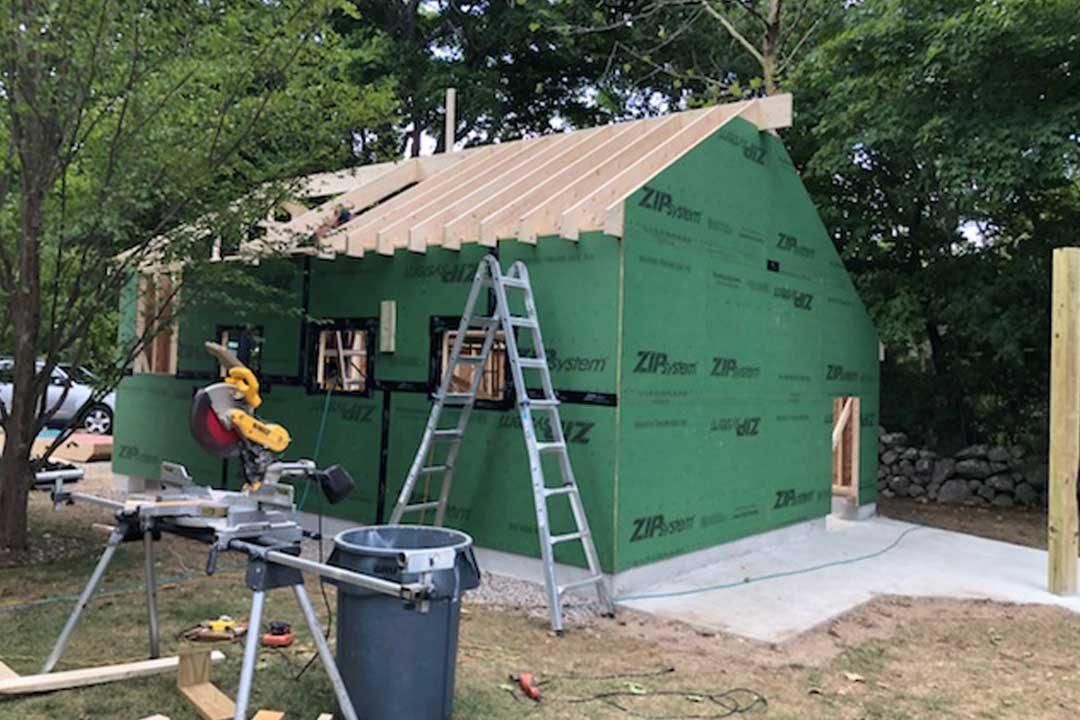 Before: Garage Construction 3